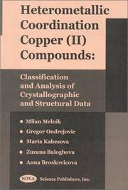 Cover of: Heterometallic Coordination Copper (Ii) Compounds