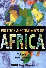 Cover of: Current Politics and Economics of Africa, Volume I