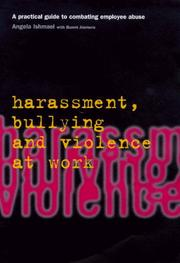 Cover of: Harassment, Bullying and Violence at Work (Employment Matters)