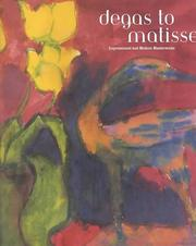 Cover of: Degas to Matisse