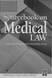 Cover of: Medical Law (Sourcebook)