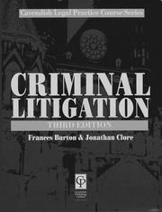 Cover of: Criminal Litigation