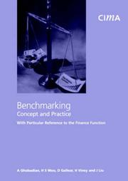 Cover of: Benchmarking- Concept and Practice with Particular Reference to the Finance Function (CIMA Research)