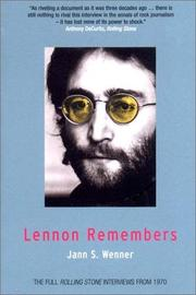 Cover of: Lennon Remembers
