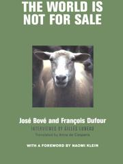 Cover of: The World is Not For Sale