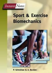 Cover of: Instant Notes in Sport and Exercise Biomechanics (Instant Notes)