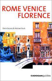 Cover of: Rome Venice Florence, 3rd
