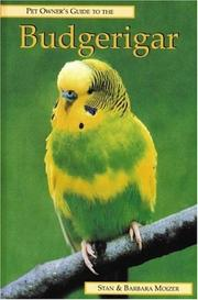 Cover of: BUDGERIGAR (Pet Owner's Guide Series)