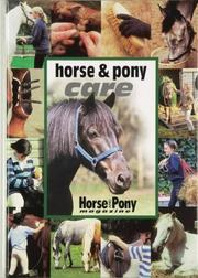 "Cover of: Horse and Pony Care (""Horse & Pony"" Magazine Library)"