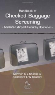 Cover of: Handbook of Checked Baggage Screening