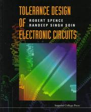 Cover of: Tolerance Design of Electronic Circuits