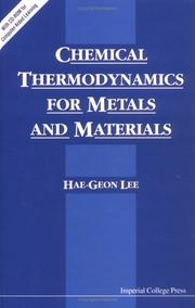 Cover of: Chemical Thermodynamics for Metals and Materials