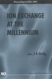 Cover of: Ion Exchange at the Millennium