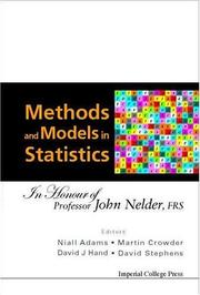 Cover of: Methods And Models In Statistics