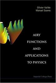 Cover of: Airy Functions And Applications To Physics