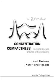 Cover of: CONCENTRATION COMPACTNESS