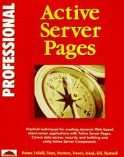 Cover of: Professional Active Server Pages (Instant)