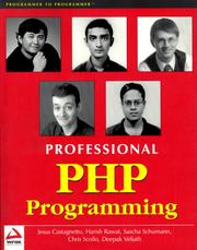 Cover of: Professional PHP Programming