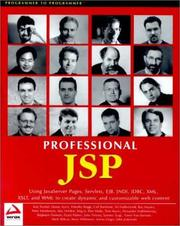 Cover of: Professional JSP