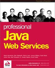Cover of: Professional Java Web Services