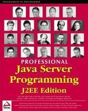 Cover of: Professional Java Server Programming J2EE Edition