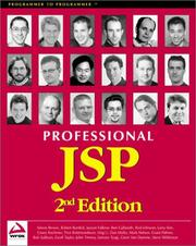 Cover of: Professional JSP 2nd Edition