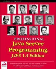 Cover of: Professional Java Server Programming J2EE, 1.3 Edition