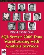 Cover of: Professional SQL Server 2000 Data Warehousing with Analysis Services