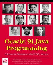 Cover of: Oracle 9i Java Programming