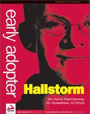 Cover of: Early Adopter HailStorm (.NET My Services)