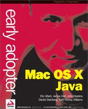 Cover of: Early Adopter Mac OS X Java
