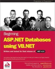 Cover of: Beginning ASP.NET Databases using VB.NET