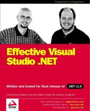 Cover of: Effective Visual Studio .Net