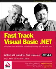 Cover of: Fast Track Visual Basic .NET