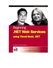 Cover of: Beginning .NET Web Services with VB.NET