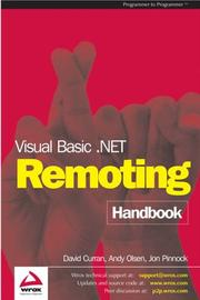 Cover of: Visual Basic .NET Remoting Handbook
