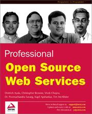 Cover of: Professional Open Source Web Services