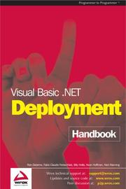 Cover of: Visual Basic .NET Deployment Handbook