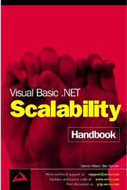 Cover of: Visual Basic .Net Scalability Handbook