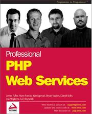 Cover of: Professional PHP Web Services