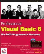 Cover of: Professional Visual Basic 6