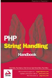 Cover of: Php String Handling Handbook