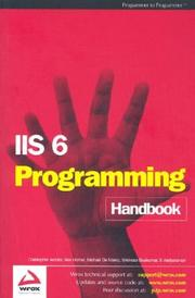 Cover of: IIS6 Programming Handbook