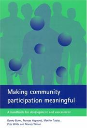 Cover of: Making Community Participation Meaningful