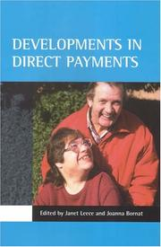 Cover of: Developments in direct payments