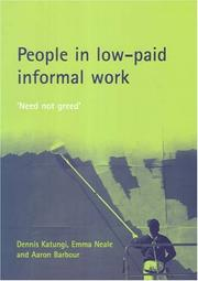Cover of: People in Low-paid Informal Work