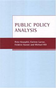 Cover of: Public policy analysis