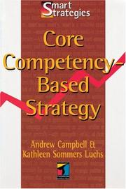 Cover of: Core Competency-Based Strategy