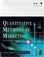 Cover of: Quantitative Methods in Marketing