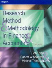 Cover of: Research Methods and Methodology in Finance and Accounting